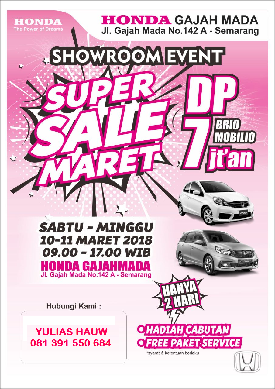 Promo Mobil Honda Semarang